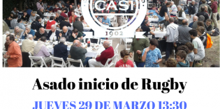ASADO INICIO DE RUGBY -Jueves 29 de marzo 13:30 hs