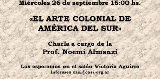Charla Prof. Noemi Almanzi: miércoles 26 de septiembre 15:00 hs.
