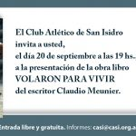 "Presentación del libro ""VOLARON PARA VIVIR"""