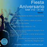 Fiesta del Club – Sábado 1 de diciembre