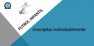 Fútbol Infantil: Asignación de equipos para jugadores inscriptos individualmente