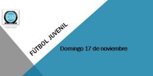 Fútbol Juvenil – Domingo 18 de noviembre