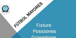 Fútbol Mayores -Fixture, Posiciones, Goleadores y Cruces