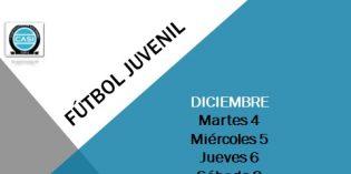 Fútbol Juvenil – 4, 5, 6, 8 y 9 de diciembre