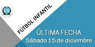 Fútbol Infantil – Sábado 15 de diciembre – ULTIMA FECHA
